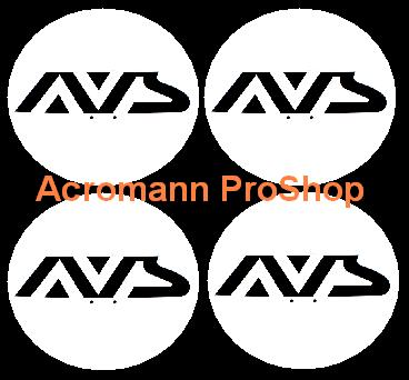 AVS (Yokohama Wheel) 2.2inch Wheel Cap Decal x 4 pcs
